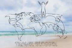 Travel blogger life Stock Image