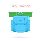 Travel blue bag Royalty Free Stock Images