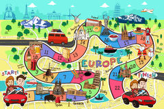 Travel Board Game Design Stock Photo