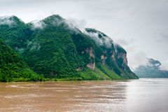 Travel by boat on the Yangtze River Royalty Free Stock Images