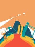 Travel Brazil world landmark landscape royalty free illustration
