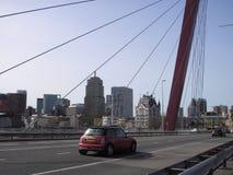 Travel. Bridge. Modern. Buildings. Car. Royalty Free Stock Images