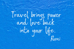 Travel brings Rumi Stock Photo
