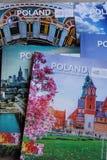 TRAVEL BROCHURES FOR POLAND. Copenhagen/Denmark 24.October 2018.Travel material or brochures on poland from Quaity travel fai 208 in Copenhagen Denmark.. Photo royalty free stock images