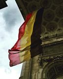 The National Flag of Belgium stock photos