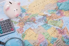 Travel Budget money Stock Images