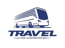 Travel bus illustration on light background Stock Photo