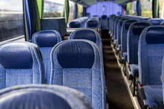 Travel bus interior Stock Photos