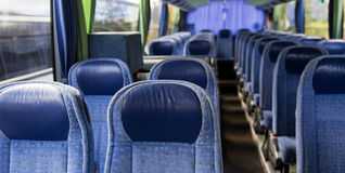 Travel bus interior Royalty Free Stock Images