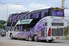 Travel Bus of Lampang Rattanapol Tour Royalty Free Stock Photos