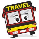 Travel bus. Tour bus, vector icon. Dancing bus Stock Photo