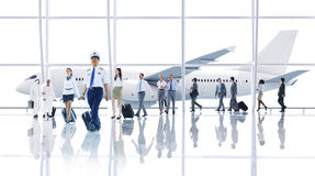 Travel Business Cabin Crew Transportation Airplane Concept Royalty Free Stock Photo