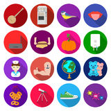 Travel, business, progress and other web icon in flat style.microbes, sports, ecology icons in set collection. Stock Photography