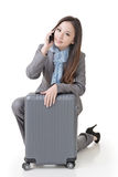 Travel business woman Royalty Free Stock Photos