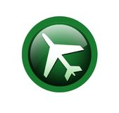 Travel button. Travel  icon on isolated background Stock Photo