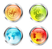 Travel Button Set Royalty Free Stock Photos