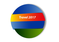 Travel button Stock Photography