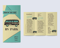 Travel and Camping Brochure Flyer design Layout Royalty Free Stock Images
