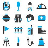 Travel and camping icons Stock Image