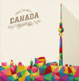 Travel Canada polygonal skyline Royalty Free Stock Images