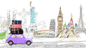 Travel by car Royalty Free Stock Image