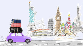 Travel by car Royalty Free Stock Images