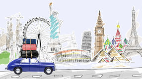 Travel by car Royalty Free Stock Photography