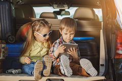 Travel by car family trip together vacation Stock Image