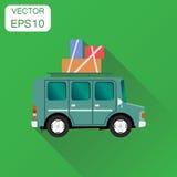 Travel car icon. Business concept vacation auto car pictogram. V Stock Photo