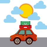 Travel car vehicle icon Royalty Free Stock Photo