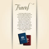 Travel Card Royalty Free Stock Photo