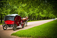 Travel in the carriage. Back to the time when people travelled in the carriages Stock Photography