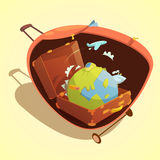 Travel Cartoon Concept Royalty Free Stock Image
