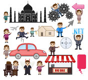 Travel and Cartoon People Vector Graphics Royalty Free Stock Photos