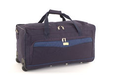 Travel case. Black travel case with towing handle Stock Image