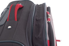 Travel case. Black travel rucksack with towing handle Stock Images