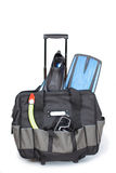 Travel case. With set for subaqueous navigation Stock Photography