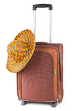 Travel case and hat Stock Photos