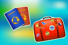 Travel case passport Stock Photos