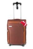 Travel case, passport and sunglasses Stock Photo
