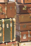 Travel Case and suitcase. Vintage old travel case and suitcase, on Provence France Royalty Free Stock Photos