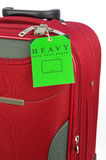 Travel case and warning label Royalty Free Stock Photography