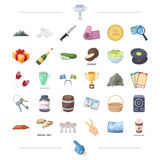 Travel, casino, finance and other web icon in cartoon style.music, cooking, sports icons in set collection. Stock Photos