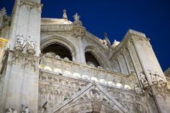 Travel, Cathedral of toledo at night, beautiful building with bi Stock Photography