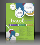 Travel Center Flyer Design Royalty Free Stock Photography