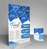 Travel center Flyer Royalty Free Stock Photos