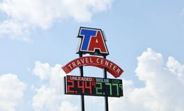 TA Travel Center and Gas Station Royalty Free Stock Image