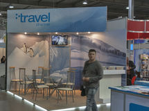 Travel Channel booth Royalty Free Stock Photos
