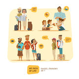 Travel Characters Collection. vector illustration