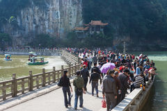 Travel  for Chinese Spring Festival in park Royalty Free Stock Photos